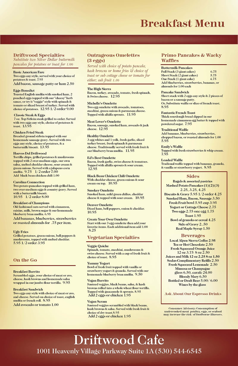 Driftwood 2018 breakfast menu 800
