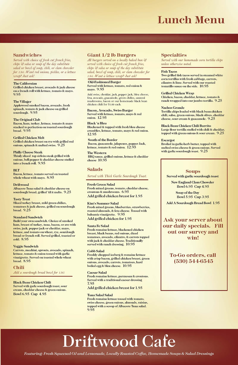 Driftwood 2018 lunch menu 800